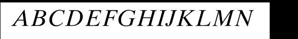 Times™ Ten Cyrillic Italic Font UPPERCASE