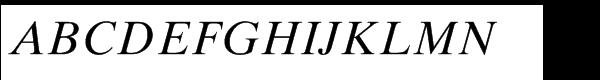 Times® Ten Std Italic Font UPPERCASE