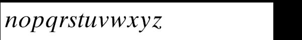 Times® Ten Std Italic Font LOWERCASE