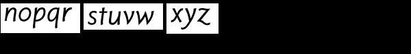 Tinman Pro Italic Font LOWERCASE