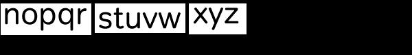 Tondo Corp Font LOWERCASE