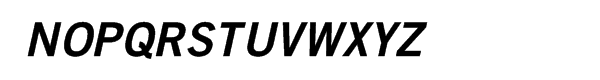 Trade Gothic™ Bold 2 Oblique Font UPPERCASE