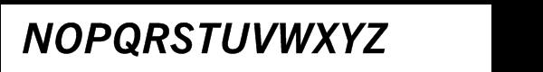 Trade Gothic Next® Pro Bold Italic Font UPPERCASE