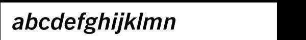 Trade Gothic Next® Pro Bold Italic Font LOWERCASE