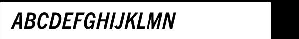 Trade Gothic Next® Pro Condensed Bold Italic Font UPPERCASE