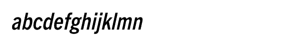 Trade Gothic Next® Pro Condensed Bold Italic Font LOWERCASE