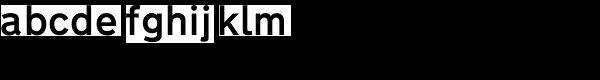 Transport D Medium Font LOWERCASE