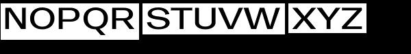 Trivia Gothic E3 Semi Expanded Regular Font UPPERCASE