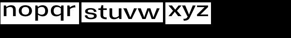 Trivia Gothic E3 Semi Expanded Regular Font LOWERCASE
