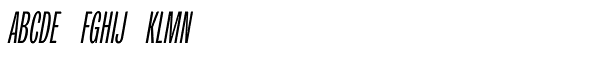 Trivia Grotesk C2 Italic Font UPPERCASE