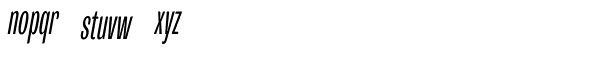 Trivia Grotesk C2 Italic Font LOWERCASE