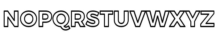 Trueno Bold Outline Font UPPERCASE