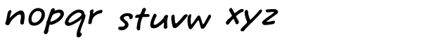 Tuf Medium HMK Font LOWERCASE
