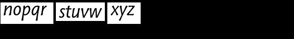 Tuff Italic Font LOWERCASE