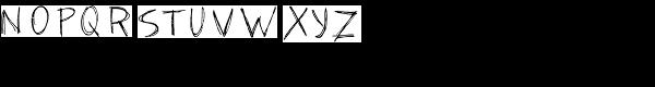 TXT Scribbletti Font UPPERCASE