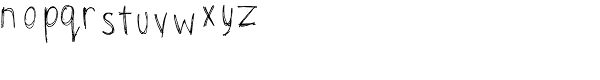 TXT Scribbletti Font LOWERCASE