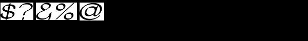 Tzaristane Cal Exp Oblique Font OTHER CHARS