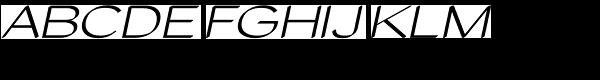 Tzaristane Cal Exp Oblique Font UPPERCASE