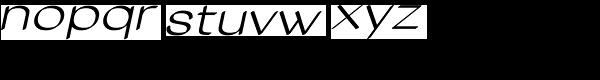 Tzaristane Cal Exp Oblique Font LOWERCASE
