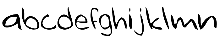 ugly hand writing Font LOWERCASE