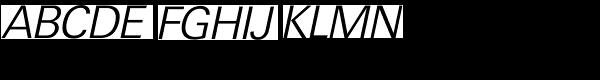 Ultimate Serial Light Italic Font UPPERCASE