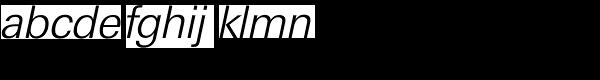 Ultimate Serial Light Italic Font LOWERCASE