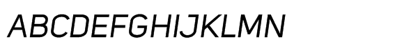 Uni Sans Std Italic Font UPPERCASE