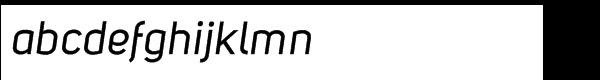 Uni Sans Std Italic Font LOWERCASE