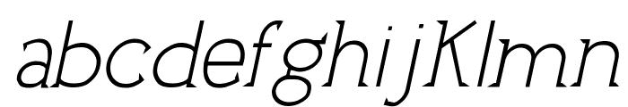 UptownElegance-Italic Font LOWERCASE