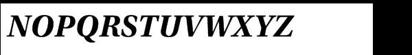 Utopia™ Std Bold Italic Font UPPERCASE