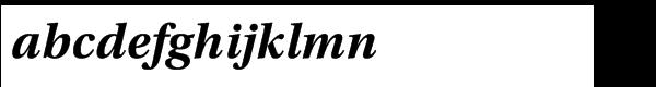Utopia™ Std Bold Italic Font LOWERCASE
