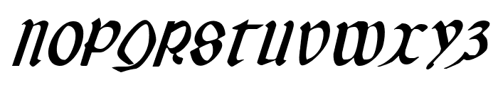 Valerius Italic Font UPPERCASE
