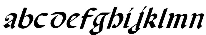 Valerius Italic Font LOWERCASE