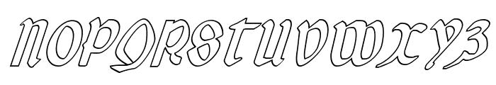 Valerius Outline Italic Font UPPERCASE
