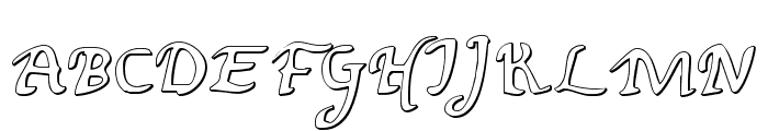 Valley Forge Outline Font UPPERCASE
