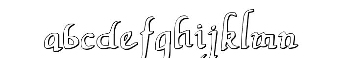 Valley Forge Outline Font LOWERCASE