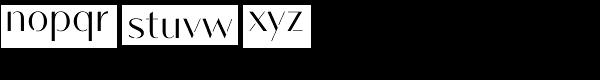 Vanitas Stencil Bold Font LOWERCASE