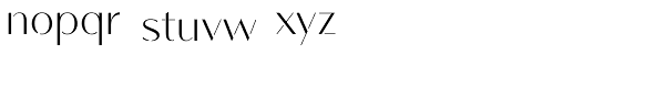 Vanitas Stencil Font LOWERCASE