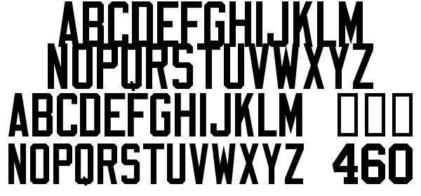 Varsity Block A free Font