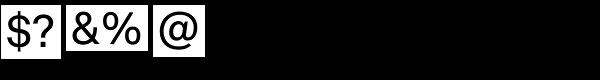 Vaud Medium Font OTHER CHARS