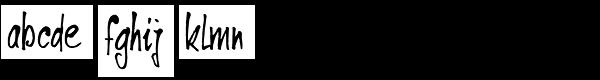 Ventana Font LOWERCASE