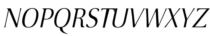VenturisSansADFLt-Italic Font UPPERCASE