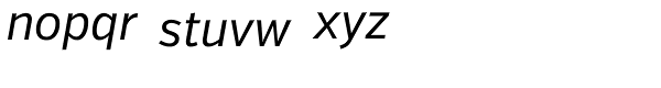 Verb Cond Italic Font LOWERCASE