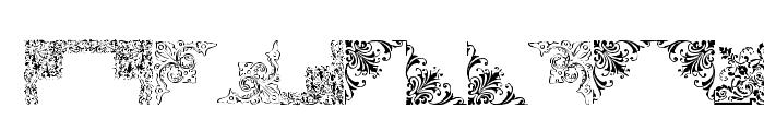 Vintage Decorative Corners 16 Font LOWERCASE