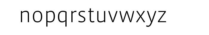 Vista Sans Light OT Font LOWERCASE