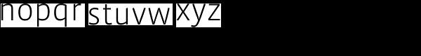 Vista Sans OT Light Font LOWERCASE