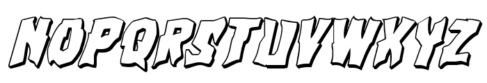 Vorvolaka 3D Italic Font LOWERCASE