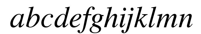 VremyaFWF Italic Font LOWERCASE