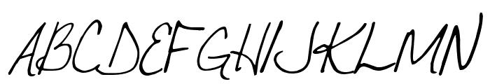 VTC JoeleneHand Regular Italic Font UPPERCASE