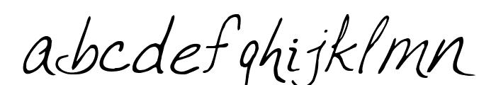 VTC JoeleneHand Regular Italic Font LOWERCASE